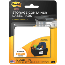 Post it Removable Storage Container Labels