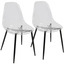 LumiSource Clara Dining Chairs BlackClear Set