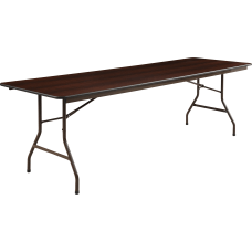 Lorell Laminate Economy Folding Table 8W