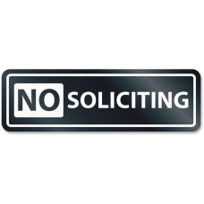 HeadLine No Soliciting Window Sign 1