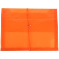 JAM Paper Plastic Booklet Envelope With