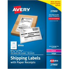 Avery Shipping Labels With Paper Receipts