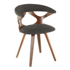 LumiSource Gardenia Chair Charcoal SeatWalnut Frame