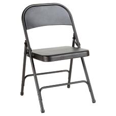 Alera Steel Folding Chairs Graphite Carton