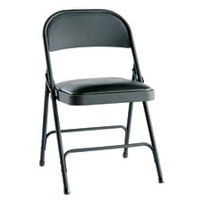 Alera Steel Folding Chairs Padded Seat