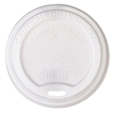 Highmark Compostable Hot Coffee Cup Lids