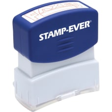 Stamp Ever Pre Inked Red Faxed