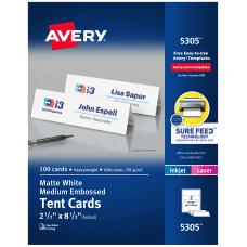 Avery InkjetLaser Tent Cards Embossed 2