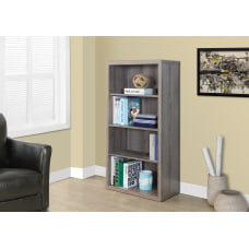 Monarch Specialties 3 Shelf Adjustable Bookcase