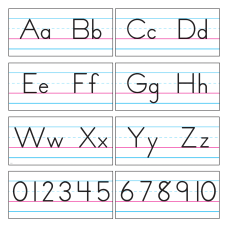 TREND Bulletin Board Set Alphabet Manuscript