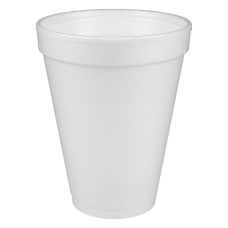 Dart Insulated Foam Drinking Cups White