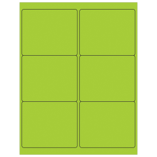 Office Depot Brand Labels LL180GN Rectangle