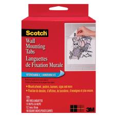 Scotch Wall Mounting Tabs 12 x