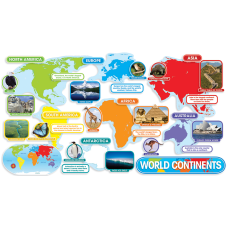 Scholastic World Continents Bulletin Board 24