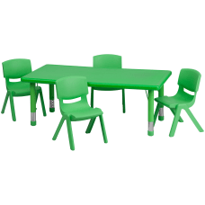 Flash Furniture Rectangular Plastic Height Adjustable