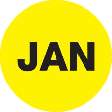 Tape Logic Yellow JAN Months of