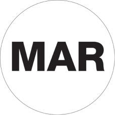 Tape Logic White MAR Months of