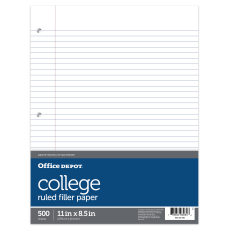 Office Depot Brand Ruled Filler Paper