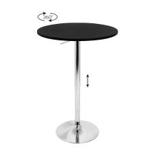 LumiSource Adjustable Bar Table SilverBlack