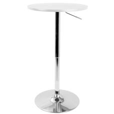 LumiSource Adjustable Bar Table SilverWhite