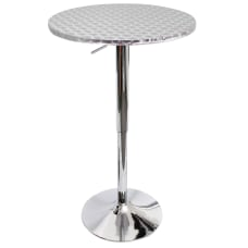 LumiSource Bistro Bar Table Silver