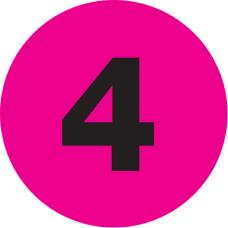 Tape Logic Fluorescent Pink 4 Number