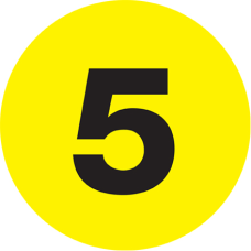 Tape Logic Yellow 5 Number Labels
