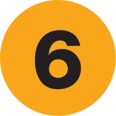 Tape Logic Fluorescent Orange 6 Number