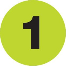 Tape Logic Fluorescent Green 1 Number