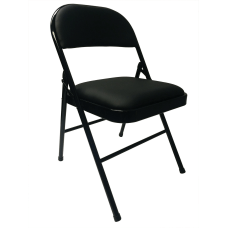 Realspace Metal Folding Chair Black