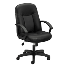 HON Executive Bonded Leather Chair Black