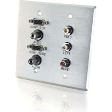 C2G 7 Sockets AudioVideo Faceplate 2