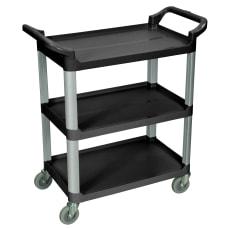 Luxor 3 Shelf Serving Cart 36