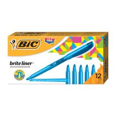 BIC Brite Liner Highlighters Blue Box