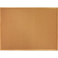 SKILCRAFT Bulletin Board Natural Finish Frame