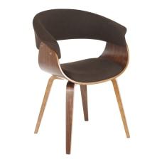 LumiSource Vintage Mod Chair WalnutEspresso
