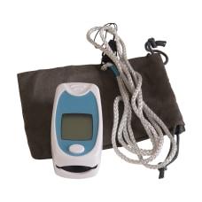 HealthSmart Fingertip Pulse Oximeter BlueWhite
