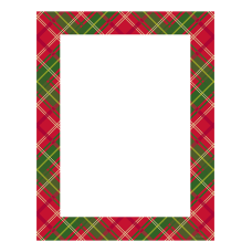 Great Papers Country Plaid Holiday Letterhead