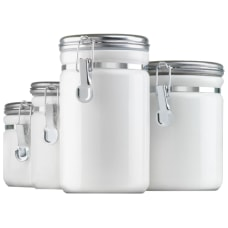 Anchor Hocking Ceramic Canister Set Food