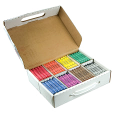 Prang Crayons Large Assorted Colors Box