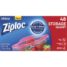 Ziploc Brand Seal Top Quart Storage