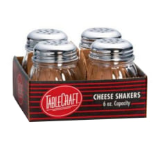 Tablecraft Glass Cheese Shakers 6 Oz