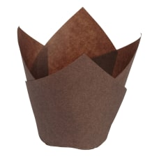Hoffmaster Tulip Baking Cups Small Chocolate
