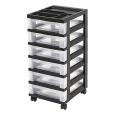 Iris Mini 6 Drawer Rolling Plastic