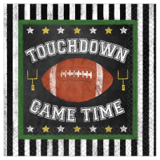 Amscan Football Game Time Beverage Paper