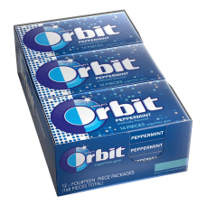 Orbit Gum Peppermint 095 Oz Box