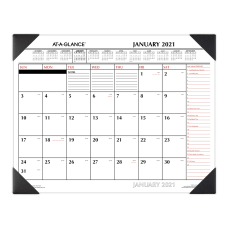 AT A GLANCE 2 Color Monthly