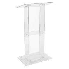 Oklahoma Sound Acrylic Lectern With Shelf