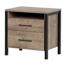 South Shore Munich 2 Drawer Nightstand