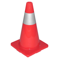 TATCO Sturdy Molded Reflective Traffic Cone